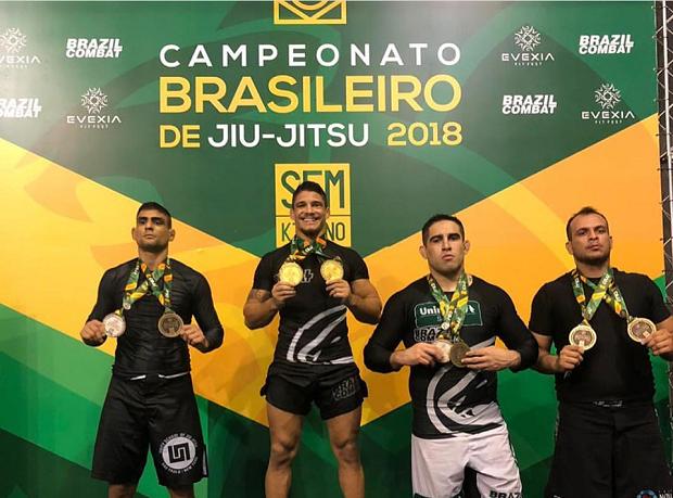 Hugo Marques e Carina Santi brilham no Brasileiro No-Gi, enquanto Ana Carolina Vieira é campeã no F2W Pro