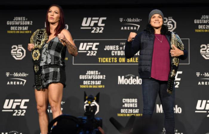 'Eu sou a pressão e ela vai sentir isso', aposta Cyborg para disputa de título contra Amanda Nunes no UFC 232