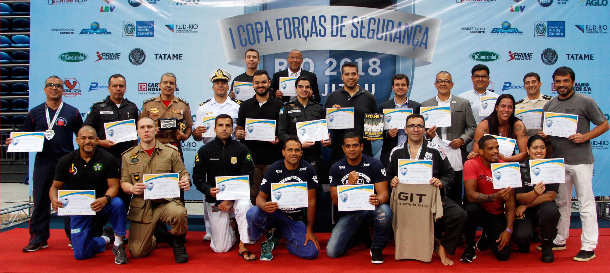 PM, Marinha e Corpo de Bombeiros formam o pódio da 1ª Copa de Jiu-Jitsu das Forças de Segurança; saiba
