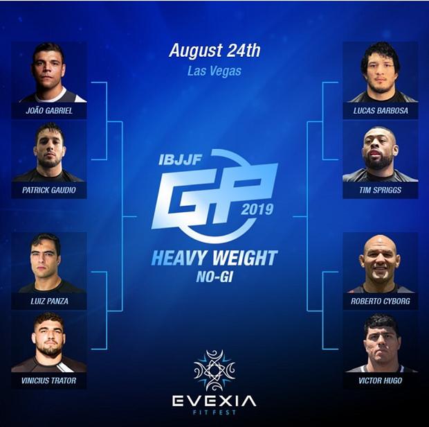 Apesar de baixas importantes, GP dos Pesados No-Gi da IBJJF reúne estrelas do Jiu-Jitsu em Las Vegas neste sábado (24)